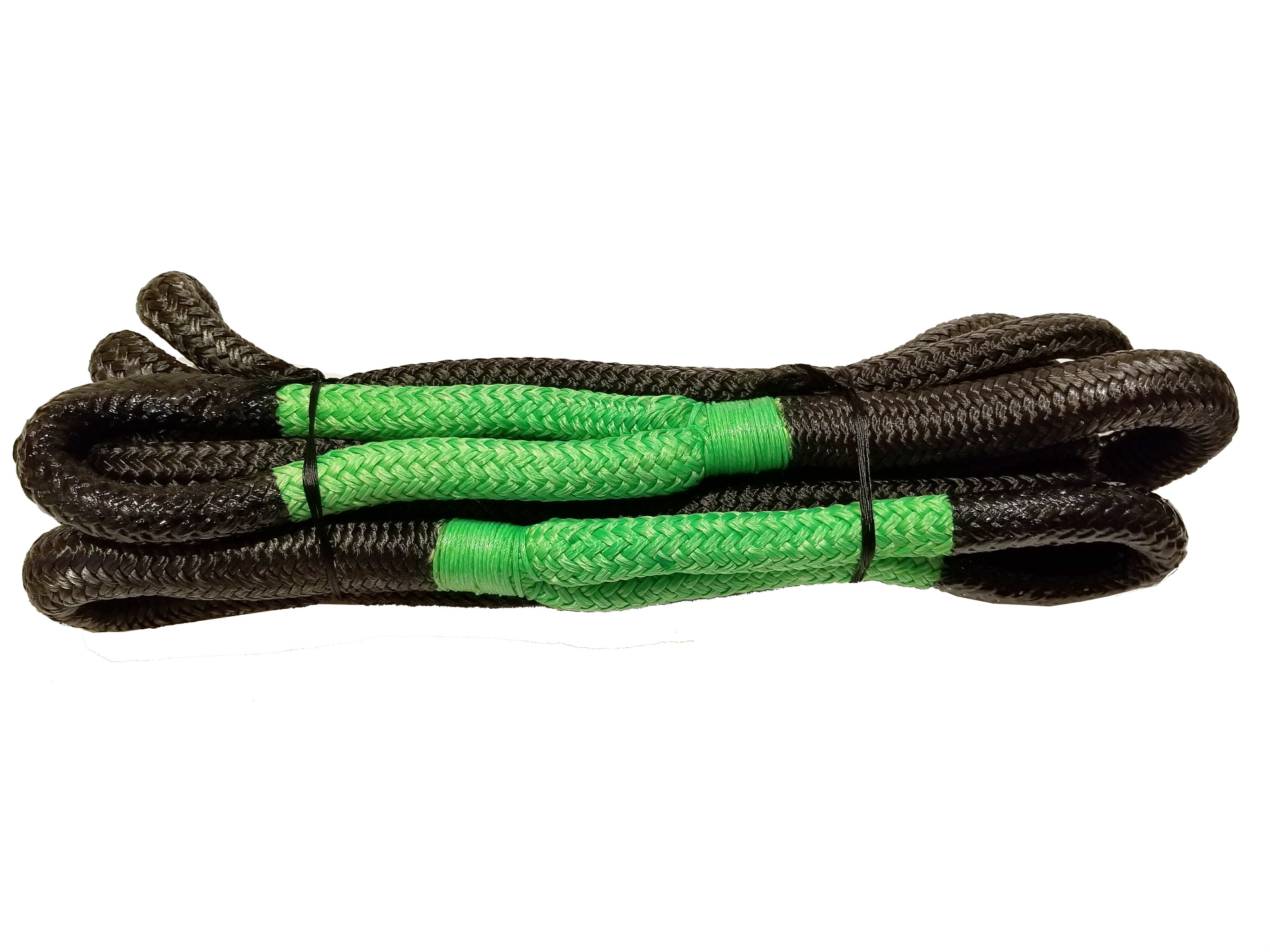 3/4 X 20 Kinetic Rope Black with Green